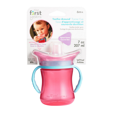 The First Years Teethe-Around Trainer Cup 7oz - Pink