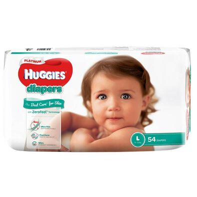 Huggies Platinum Diapers L 54S