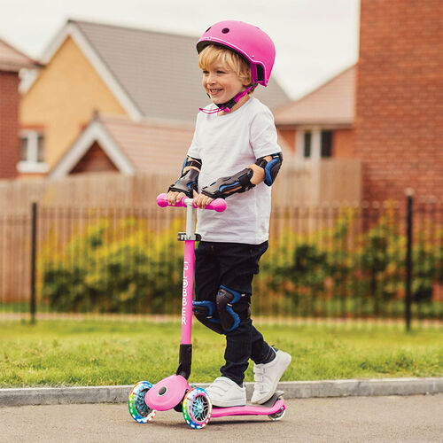 Globber Primo Foldable Lights Deep Pink Scooter