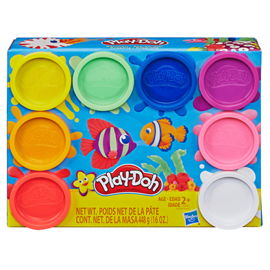 Play-Doh 8 Pack Rainbow Neon Non-Toxic Modeling Compound
