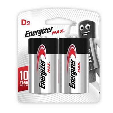 Energizer Max - Size D 2Pack Alkaline Batteries