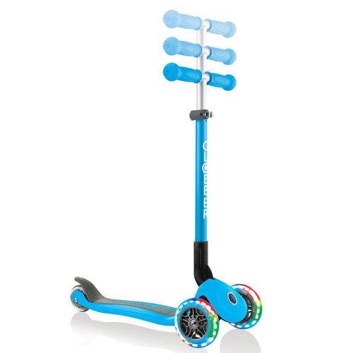 Globber Primo Foldable Lights Sky Blue Scooter