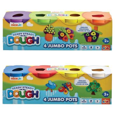 Nick Jr Ready Steady Dough 4 Jumbo Pots - Assorted