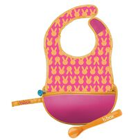 B.Box Travel Bib + Silicone Spoon Hip Hop
