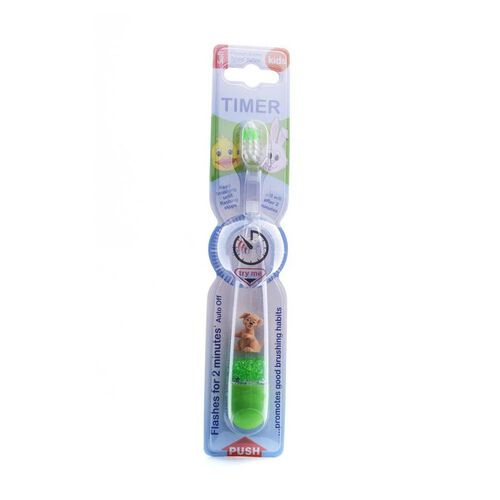 B Brite Brush Right Flashing Toothbrush With Timer - 3D Animal - Assorted