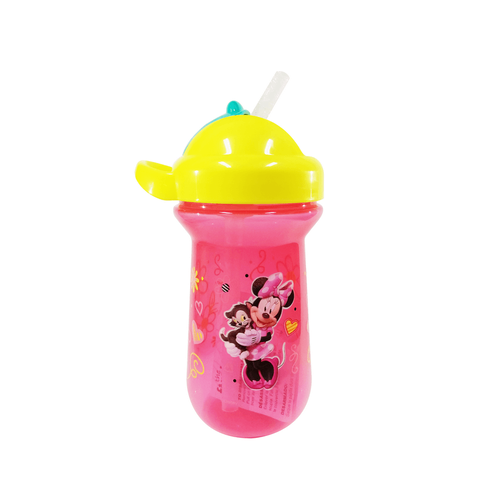 The First Years Disney Minnie Mouse 10oz Flip Top Straw Cup