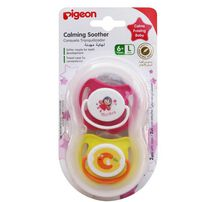Pigeon Calming Soother Girl 2 Pieces Size L