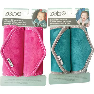 Zobo 2Pc Deluxe Strap Cover Set (Teal Or Pink)
