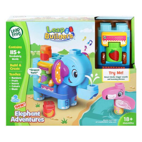 LeapFrog LeapBuilder Block Play Elephant Adventures