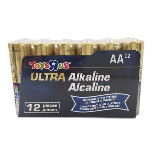 "Toys""R""Us Ultra Alkaline AA 12 Pieces"