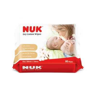 Nuk Dry Cotton Wipes (80 Wipes x 3 Packs)