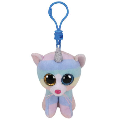 TY Beanie Boos Heather Cat With Horn Clip
