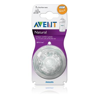 Philips Avent Natural Teat Fast Flow (F654/27)
