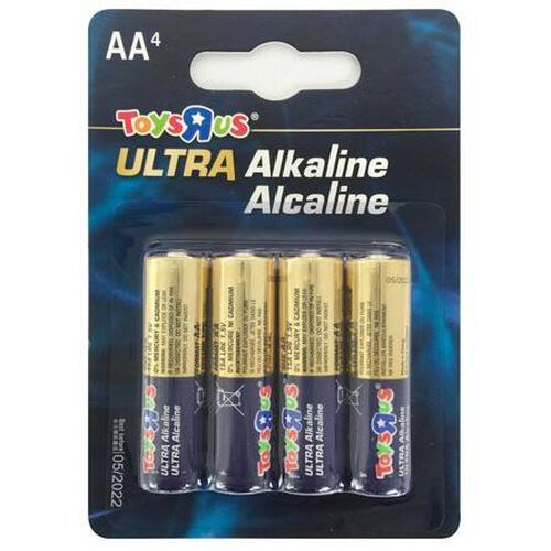 """Toys""""R""""Us Ultra Alkaline Aa 4 Pieces"""