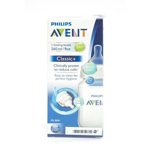 Philips Avent Classic Feeding Bottle Single 1M+