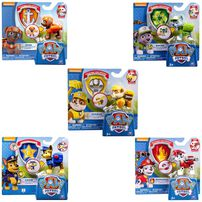 Paw Patrol Action Pup With Badge - Rubble - Assorted