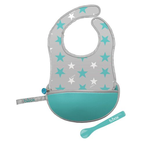 B.Box Travel Bib + Silicone Spoon Start Bust