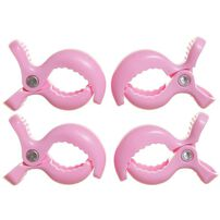 Dreambaby Stroller Clips 4 Pack (Pink)