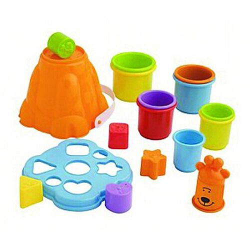 BRU Stacking Cup With Shape Sorter Bucket