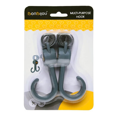 Bonbijou Double Stroller Hook Grey