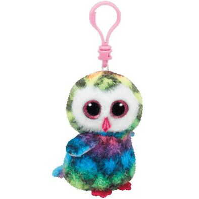 Ty Beanie Boos 5 Inch Clip Owen The Multicolored Owl