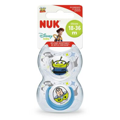 Nuk Toy Story Silicone Soother (2/Box) 18-36M
