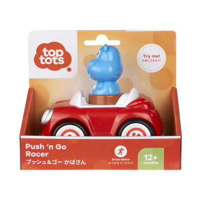 Top Tots Push 'N Go Racer Hippo