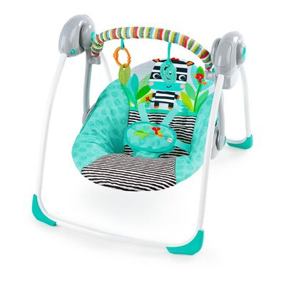 Bright Starts Zig Zag Zebra Portable Swing