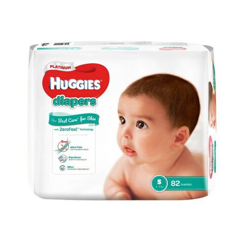 Huggies Platinum Diapers S 82S
