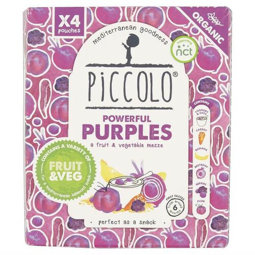 Piccolo Organic Purple & Go 4 Pack