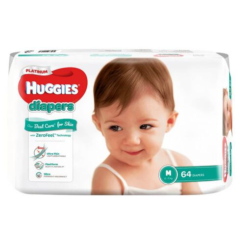 Huggies Platinum Diapers M 64S