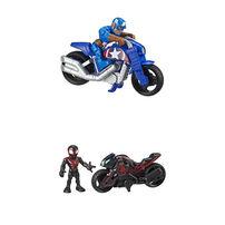 Marvel Super Hero Adventures Figure And Motorcycle - Assorted