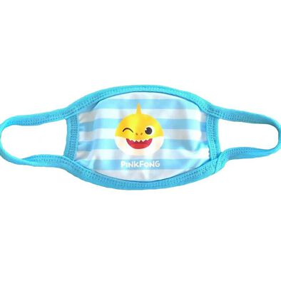 Pinkfong Fashion Mask Baby Shark Blue Stripes
