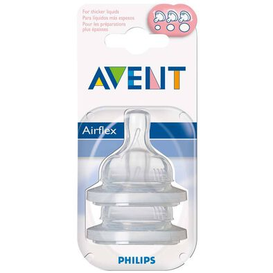Philips Avent 2 Pack Teats Variable Flow Slot (Sf63527)