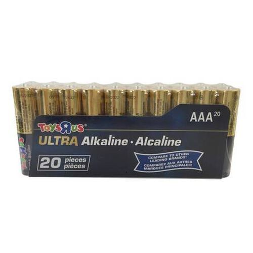 "Toys""R""Us Ultra Alkaline AAA Battery 20 Pieces Pack"