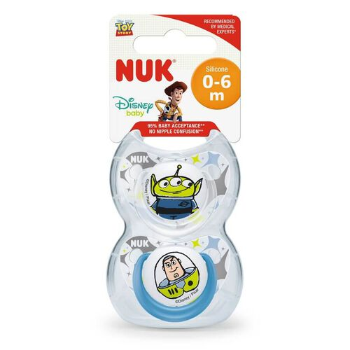 Nuk Toy Story Silicone Soother (2/Box) 0-6M