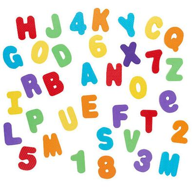 """Babies""""R""""Us 36 Piece Foam Numbers and Letters"""