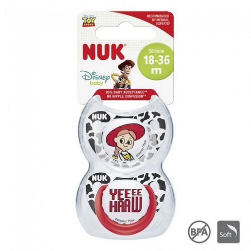 Nuk Toy Story Silicone Soother (2/Box) 18-36M - Assorted
