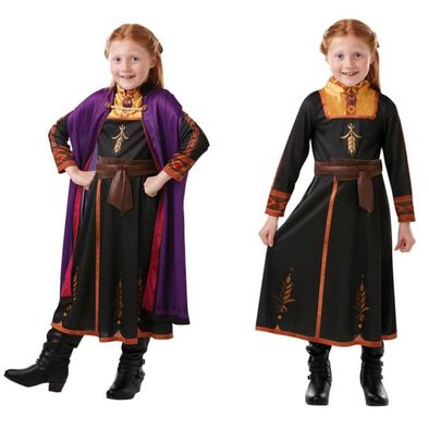 Rubies Disney Frozen 2 Anna Travel Dress Outfit (M)