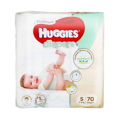 Huggies Platinum Diapers 70 Pieces Small 3 - 8Kg