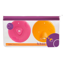 B.Box Silicone Lids Travel Pack Strawberry Shake