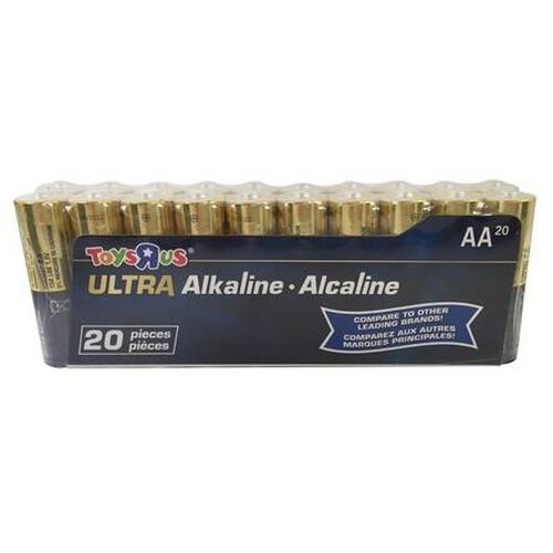 """Toys""""R""""Us Ultra Alkaline AA Battery Pack 20 Pieces"""