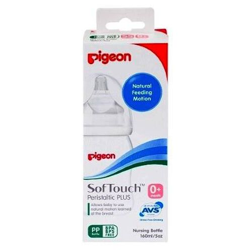 Pigeon Soft Touch Peristaltic Plus Pp Bottle 160Ml (With Ss Size)