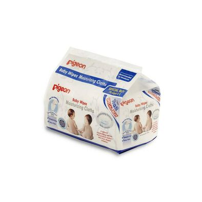 Pigeon Moisturizing Wipes 70s Flip Top Twin Pack