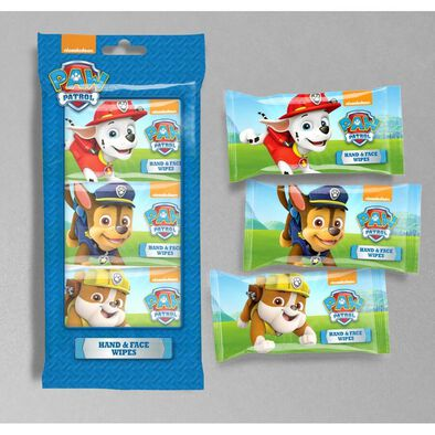 Paw Patrol Wipes 10 Sheets x 3 Packs