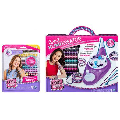 Cool Maker 2 In 1 Kumi Kreator With Fashion Pack Bundle