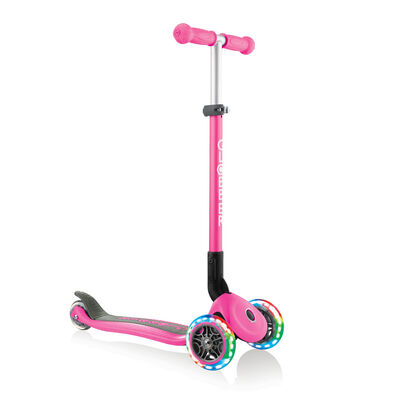 Globber Primo Foldable Lights Sky Neon Pink Scooter
