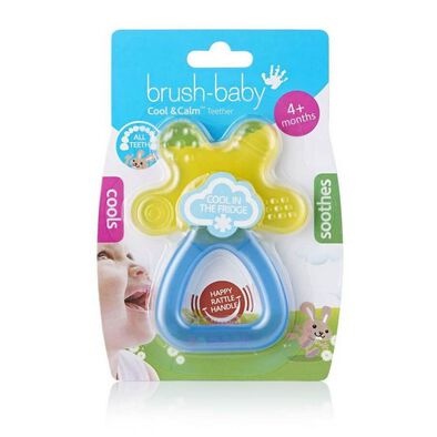 Brush Baby Cool and Calm Teether (Yellow/Blue)