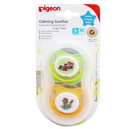 Pigeon Calming Soother Boy 2 Pieces Size M