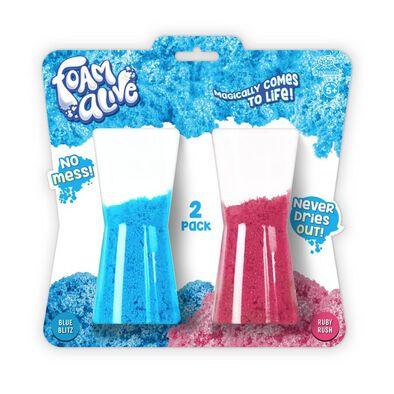 Foam Alive Blue Blitz & Ruby Rush 100 Gram 2 Pack